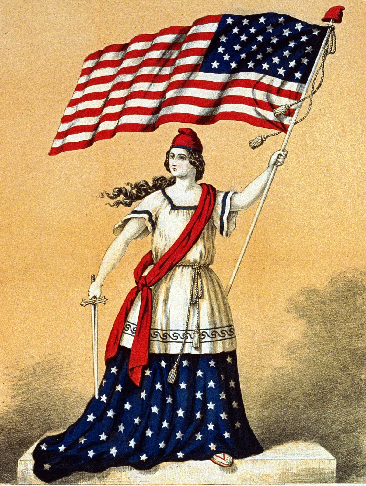 Beautiful Vintage Memorial Day Clip Art