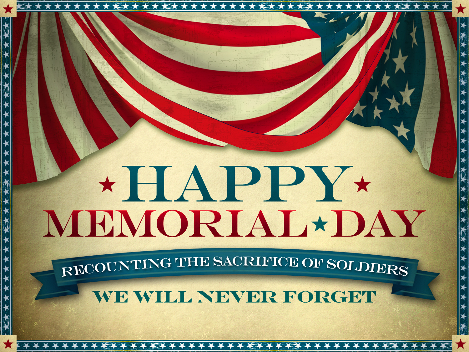 Best Memorial Day 2017 Banner Clip Art
