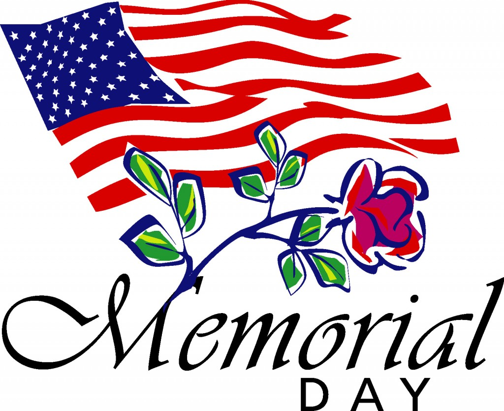 Free Happy Memorial Day 2018 Clip Art Flags
