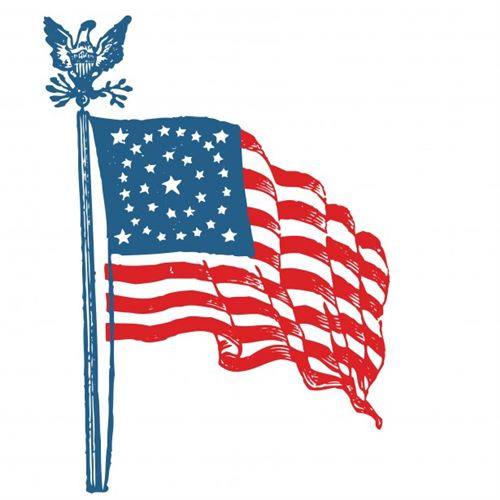 Animated Independence Day Clipart US Flag