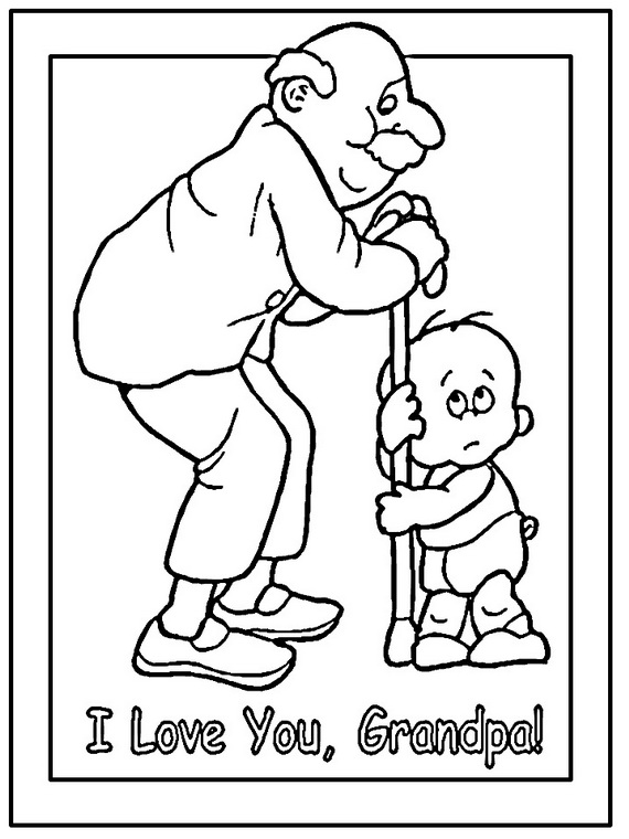 Black And White Father's Day Clip Art For Grandfather