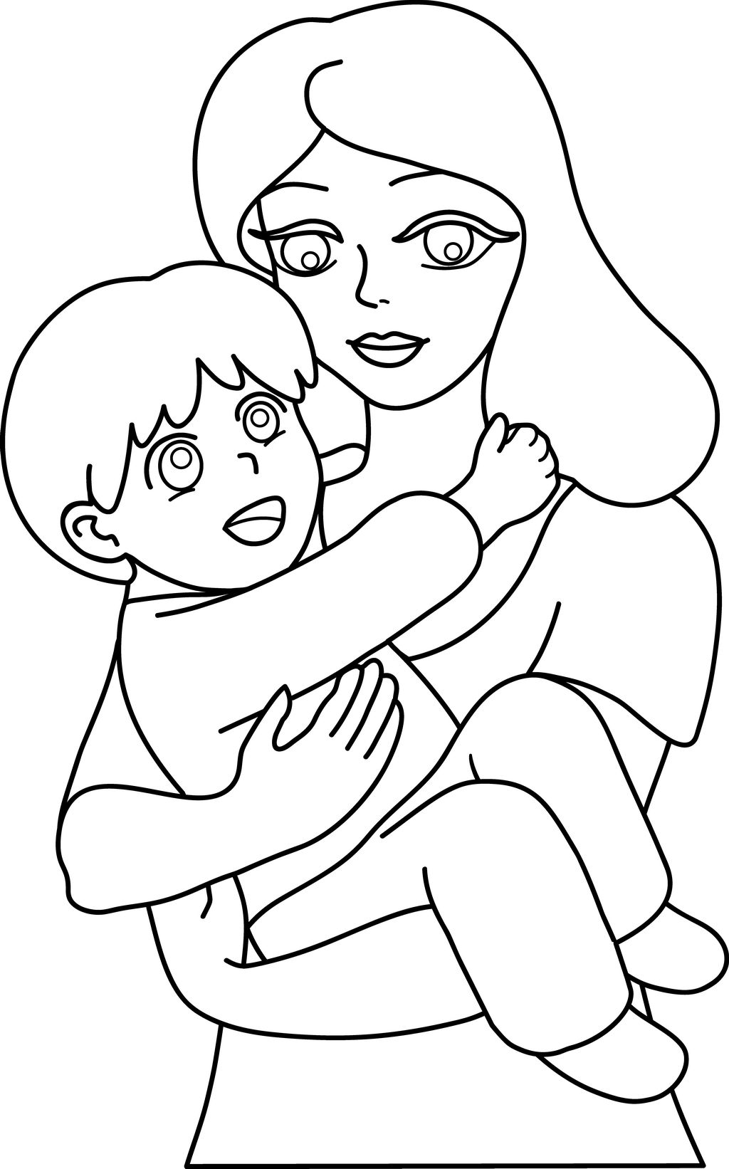 Beautiful Happy Parents Day Clipart Black and White