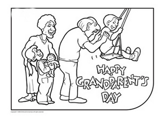 Free Black and White Grandparents Day Clip Art