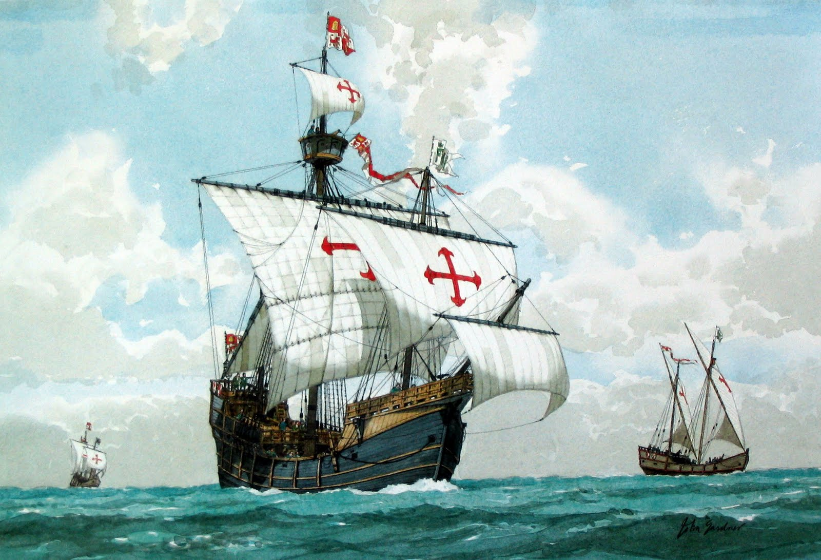 Beautiful Christopher Columbus Ships Images