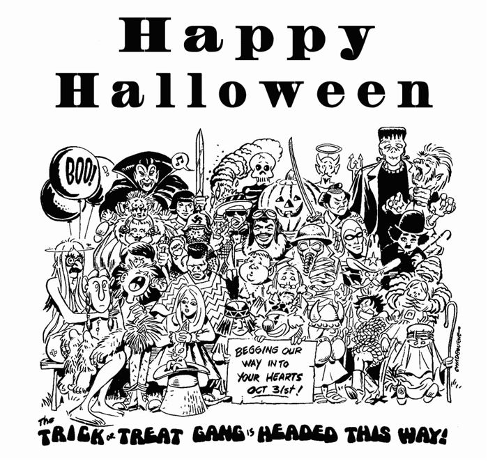 Free Halloween Clipart Black And White