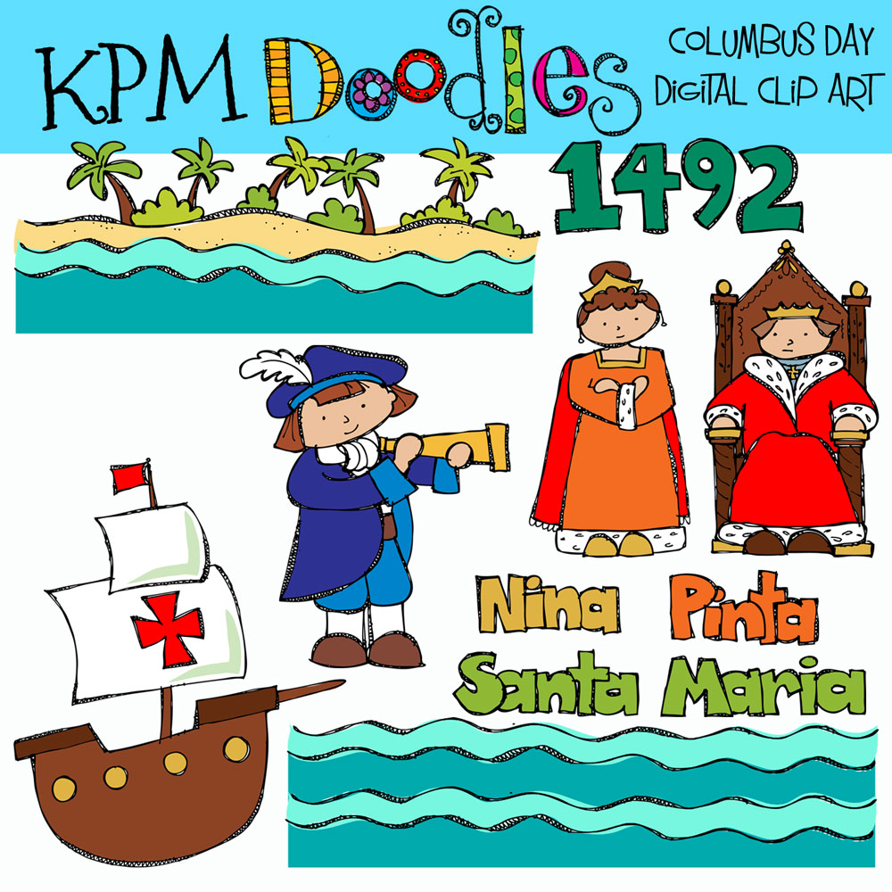 Free Happy Columbus Day Clip Art