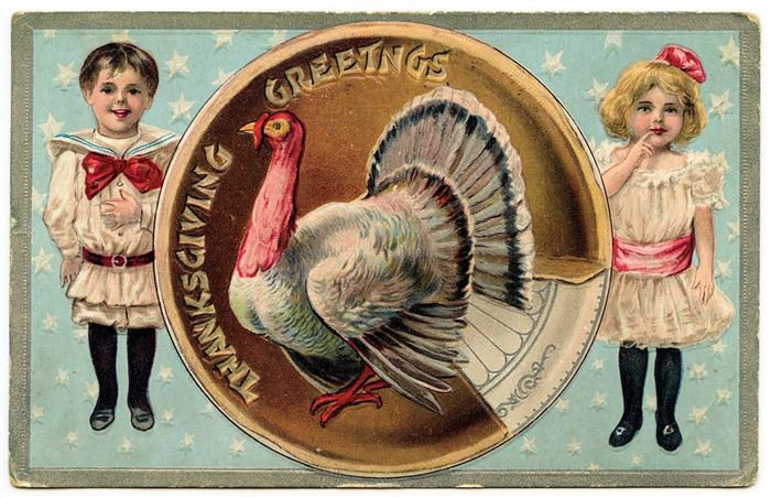Beautiful Vintage Thanksgiving Clip Art