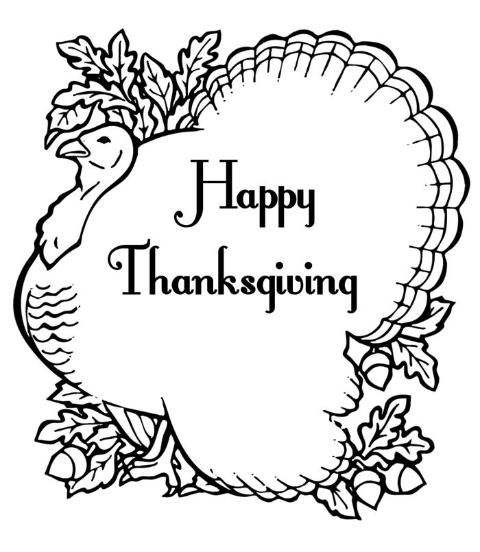 Best Free Thanksgiving Clipart Black And White