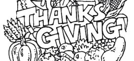 Best Thanksgiving Coloring Pictures For Preschoolers