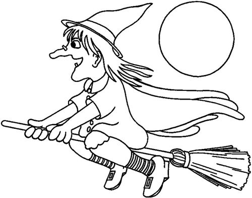 Free Halloween Coloring Pictures Of Witches