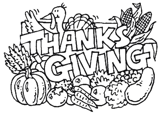 Free Printables Thanksgiving Coloring Pictures
