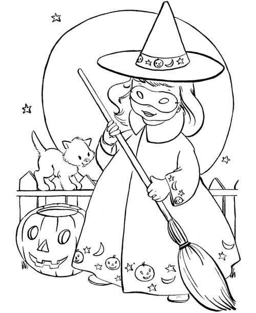 Great Halloween Coloring Pictures For Kids Free
