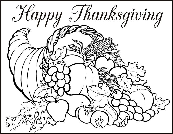 Top Free Thanksgiving Pictures To Print And Color