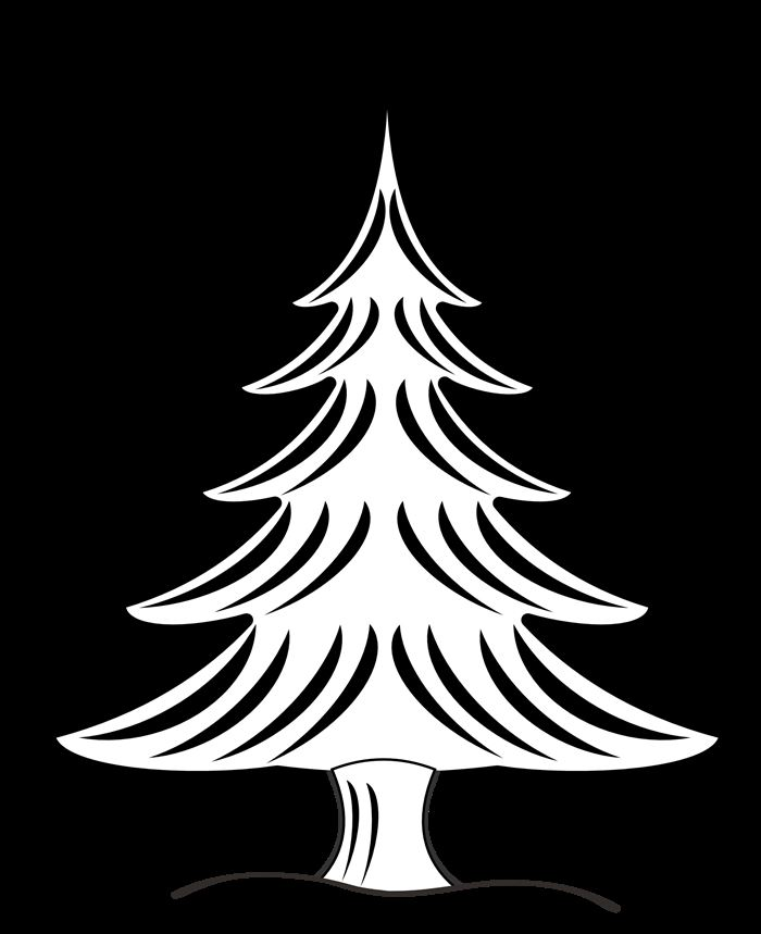 Beautiful Christmas Tree Images In Black And White