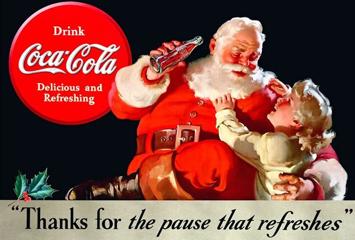 Beautiful Classic Coca Cola Santa Claus Pictures