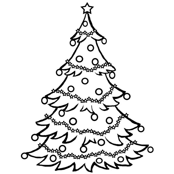 Beautiful Free Black And White Christmas Tree Images