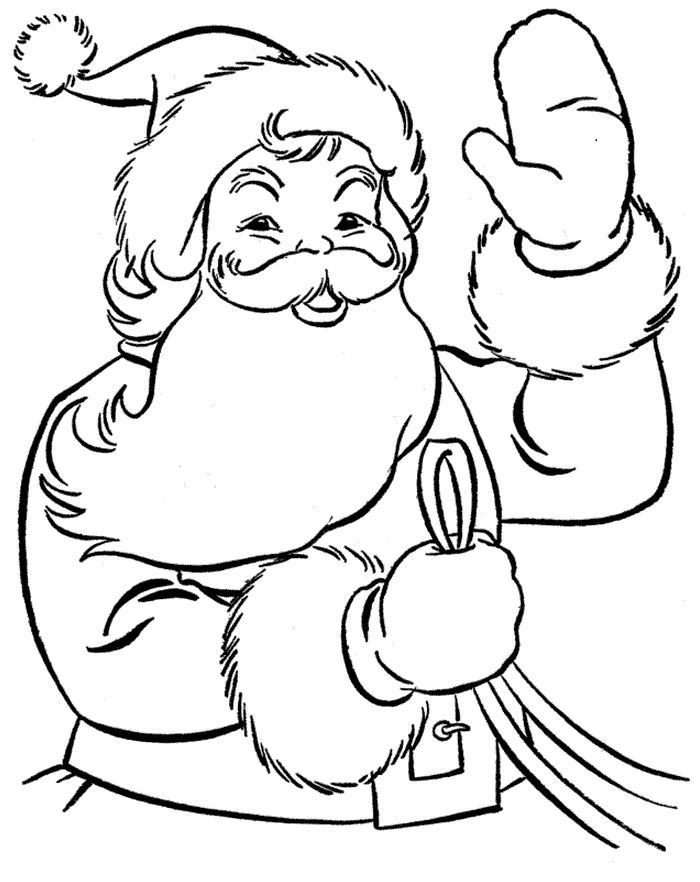 Beautiful Santa Claus Images To Colouring For Baby