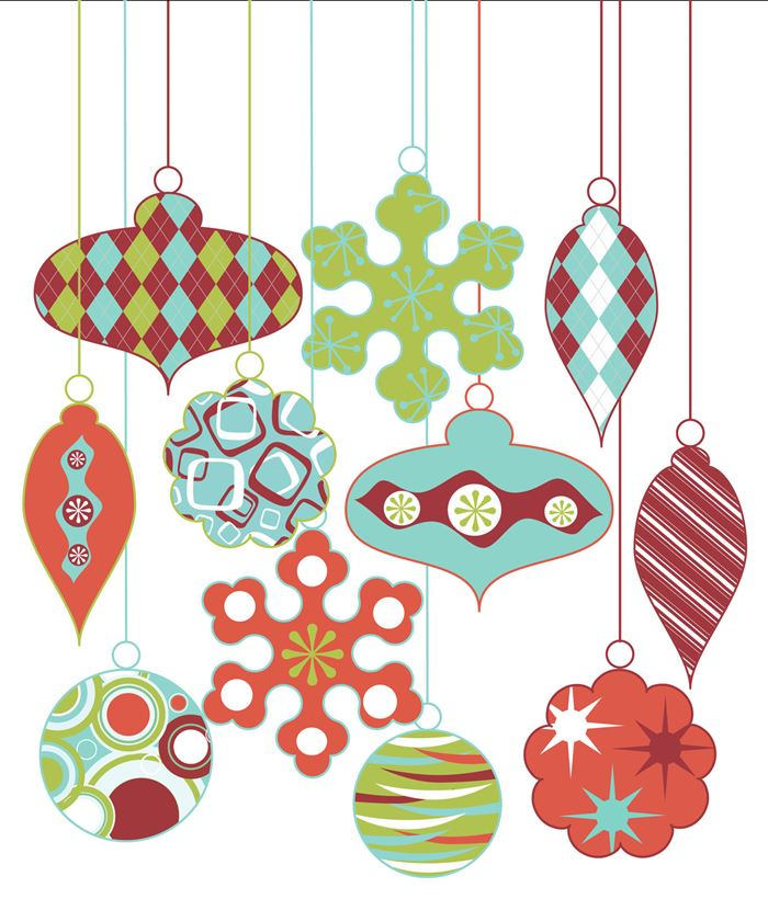 Best Christmas Tree Ornaments Clipart