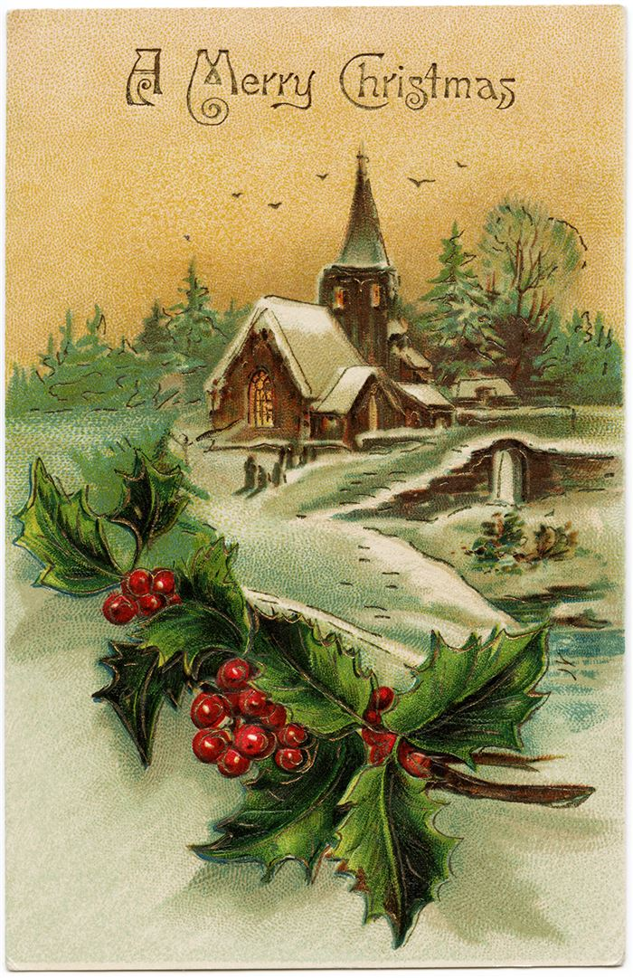 Best Vintage Christmas Clip Art Free