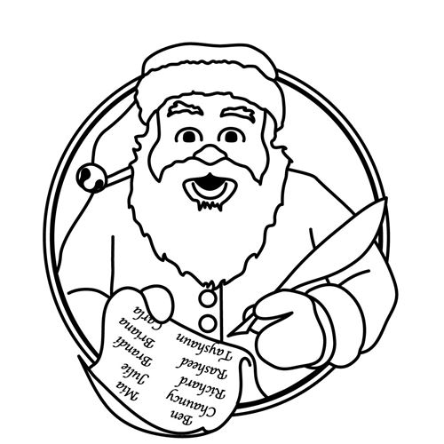 Free Black And White Santa Claus Clip Art Images