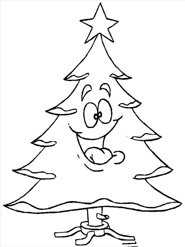 Free Cartoon Christmas Tree Pictures To Color