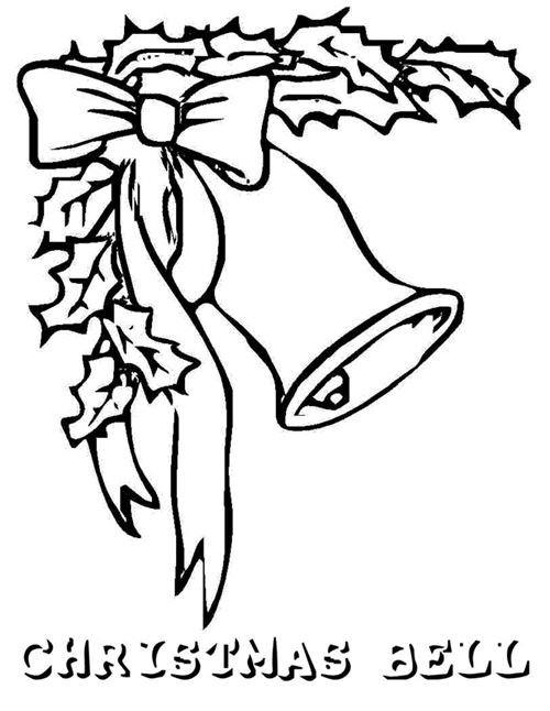 Free Christmas Clip Art Black And White Bells And Bows