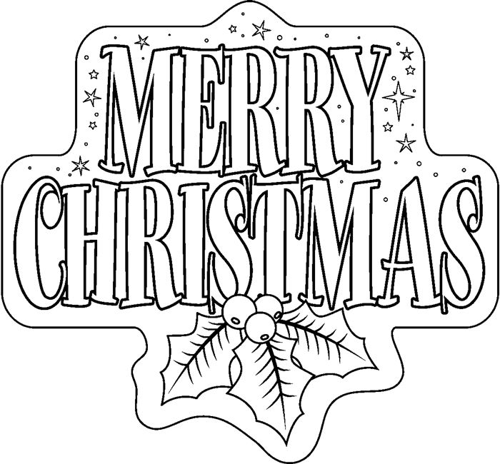 Free Christmas Clip Art Images Black And White