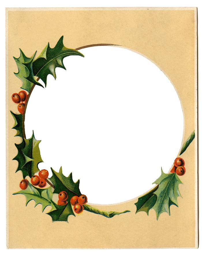 Free Christmas Picture Frames Clip Art