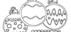 Free Christmas Tree Ornaments Pictures To Color