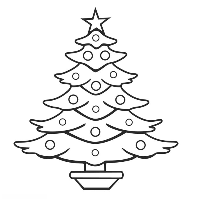 Free Printable Christmas Tree Images To Color