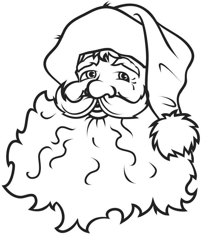 Free Printable Santa Claus Pictures For Kids To Color
