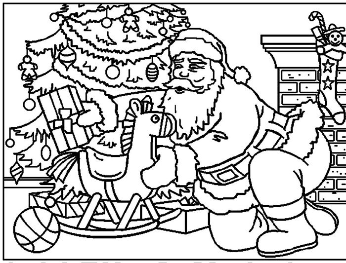 Free Santa Claus Pictures To Color And Print