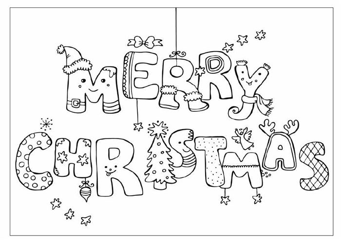 Ideal Christmas Images Coloring Pages