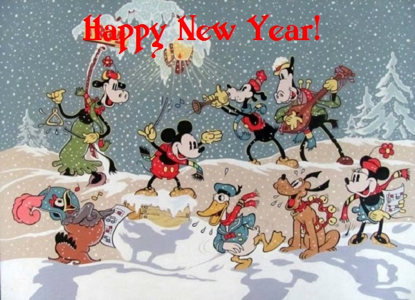 Top Beautiful Disney Happy New Year Clipart