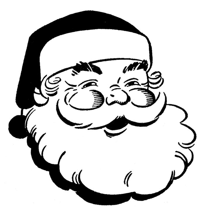 Top Free Christmas Clipart Black And White