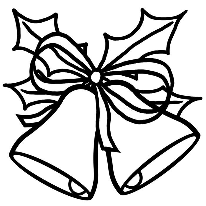 Beautiful Christmas Clipart Black And White Free