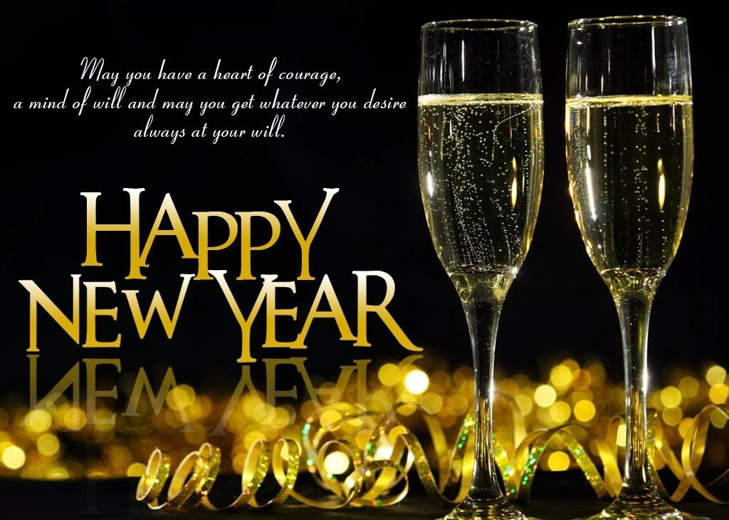 Beautiful Happy New Year Wine Glasses Pictures With Quotes
