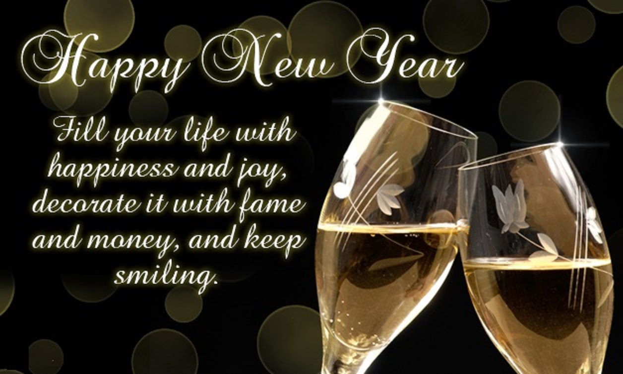 Meaning Happy New Year Wine Glasses Pictures With Quotes