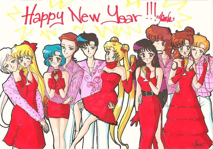 Cute Happy New Year Cartoon Images