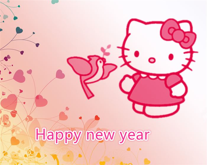 Beautiful Hello Kitty Happy New Years Pics