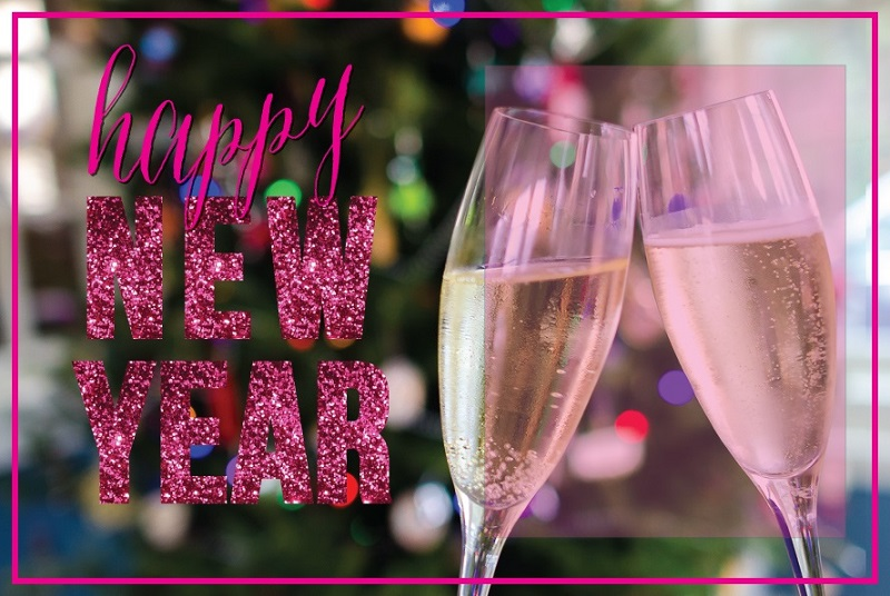 Unique New Year Glittering Ecards For Facebook