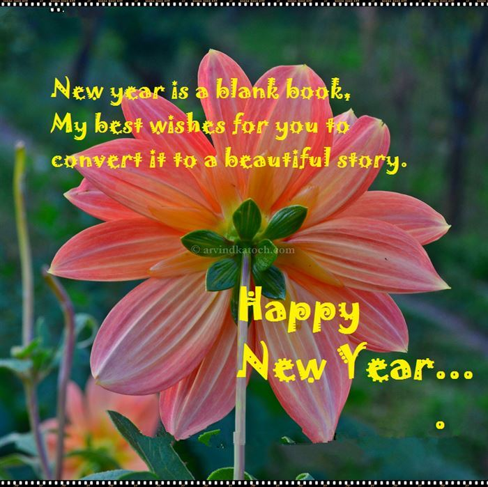 Best Beautiful Happy New Year Flower Images