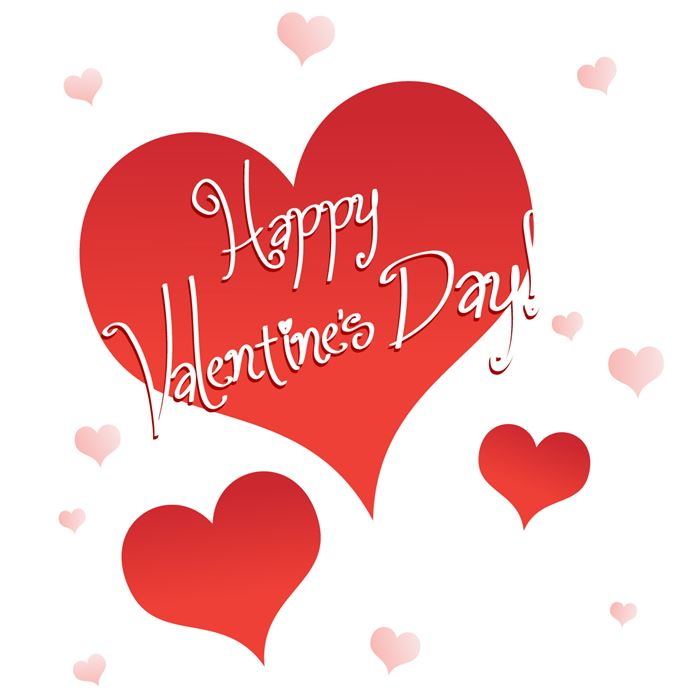 Beautiful Valentine's Day Hearts Clip Art Free