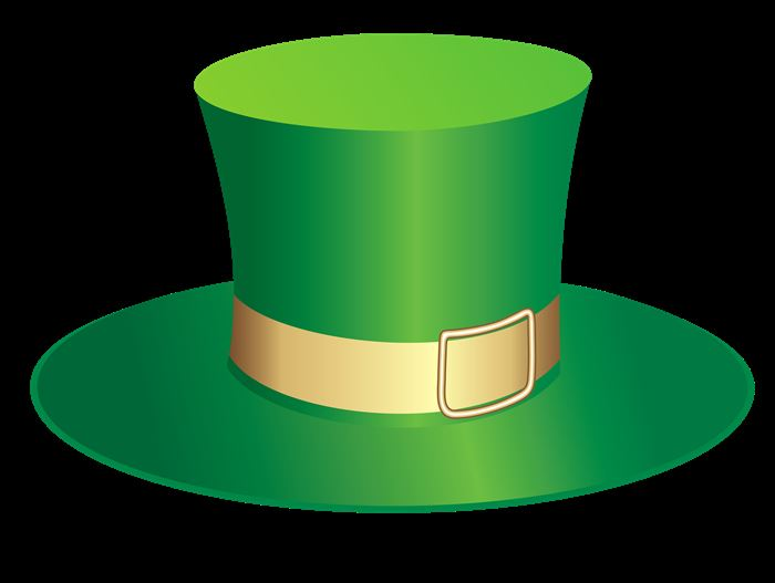 Beautiful St. Patrick's Day Hats Clipart