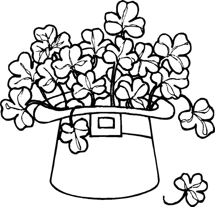 Beautiful St. Patrick's Day Clip Art Black And White