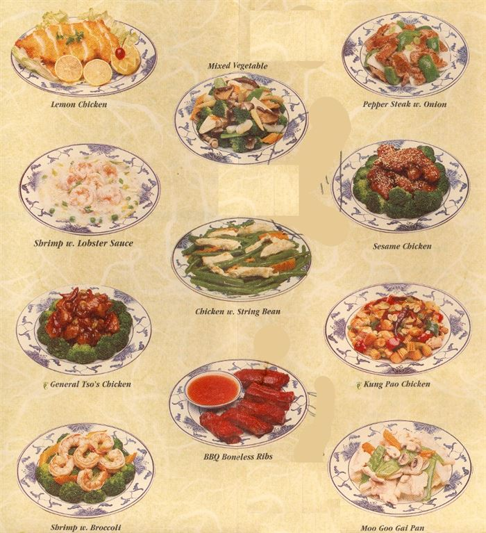 Delicious Chinese New Year Restaurant Menu With Pictures