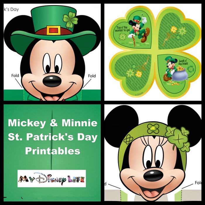 Printable Disney St. Patrick's Day Clip Art