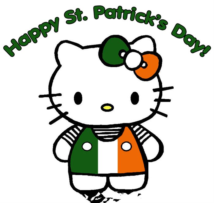 Cute Hello Kitty St. Patrick's Day Stuffed Animals