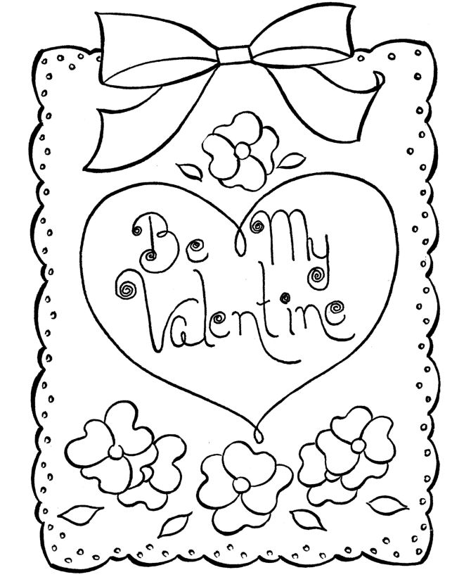Best Picture Of St Valentine's Day To Color