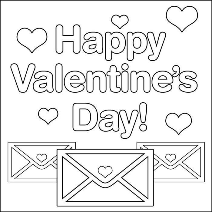 Free Picture Of St Valentine's Day To Color